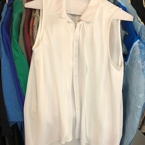 Crisp white blouse top Medium like NEW